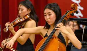 Taylor Yoon Playing the cello