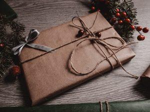brown paper present