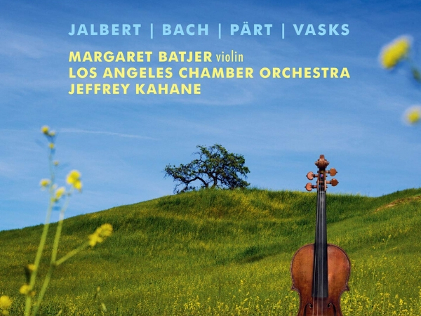 green grass and violin