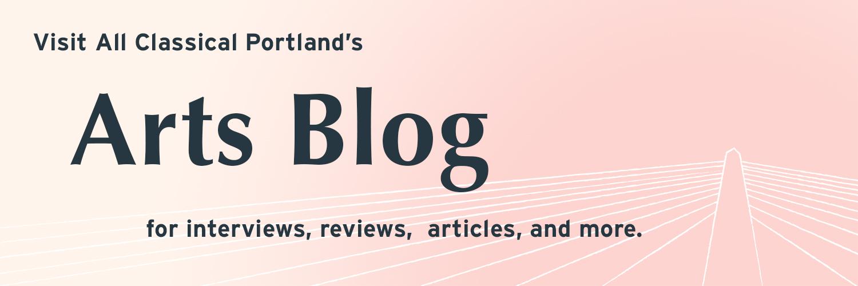 Arts Blog banner