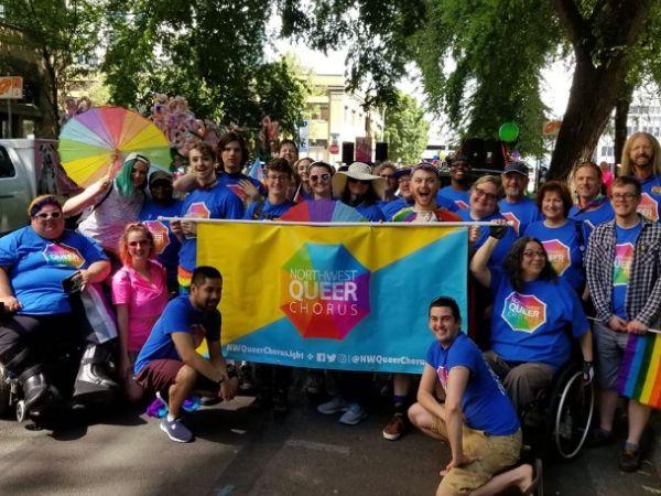 Parade photo of Northwest Queer Chorus