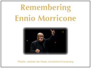 photo of ennio morricone