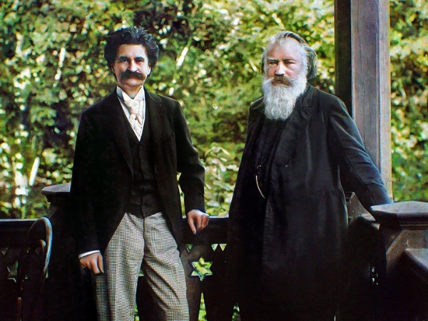photo of strauss and brahms