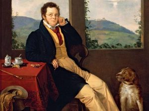 schubert and his dog