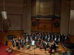 Portland Baroque Orchestra performance photo courtesy of Facebook