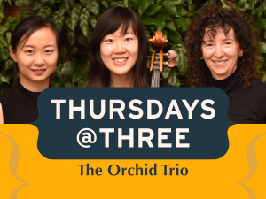 three smiling women holding string instruments