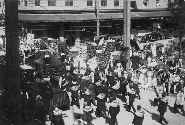 The funeral of Lili 'uokalani