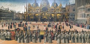 Procession in piazza San Marco by Gentile Bellini