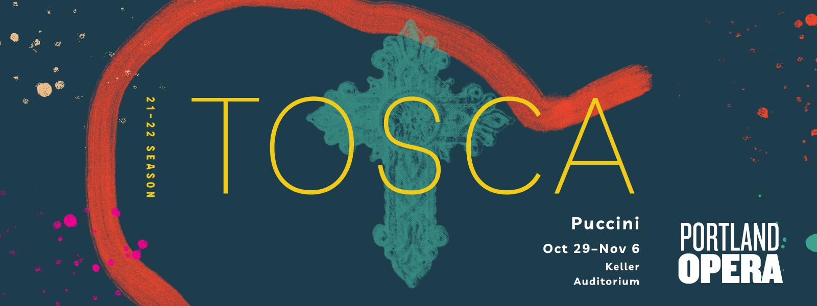 Portland Opera Banner - Tosca